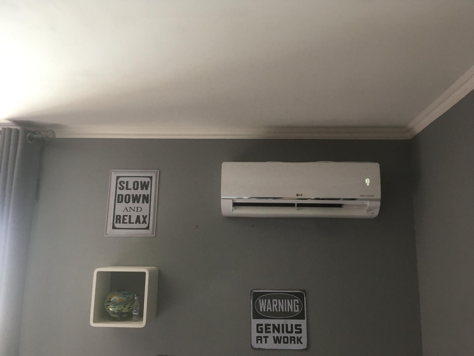 Airco Pelt plaatsing woonkamer